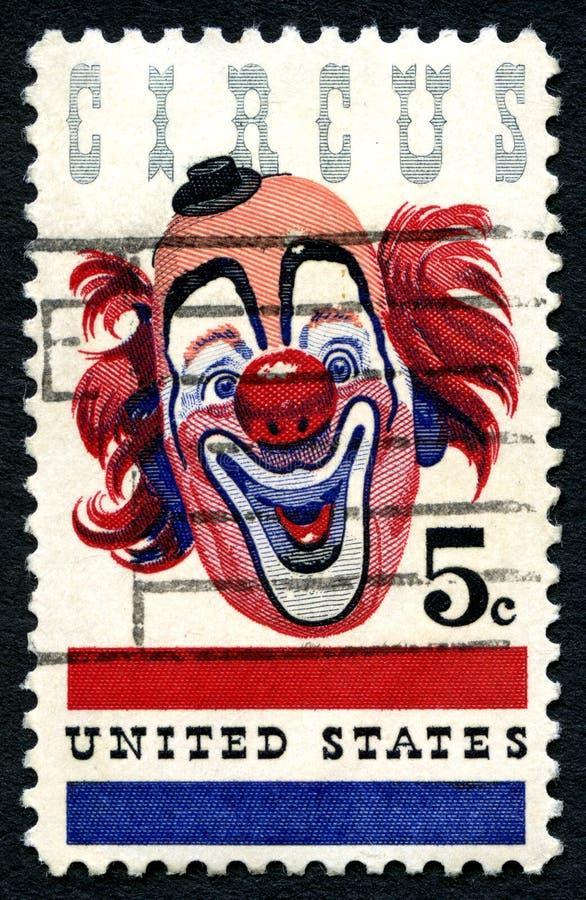 马戏美国邮票 免版税图库摄影