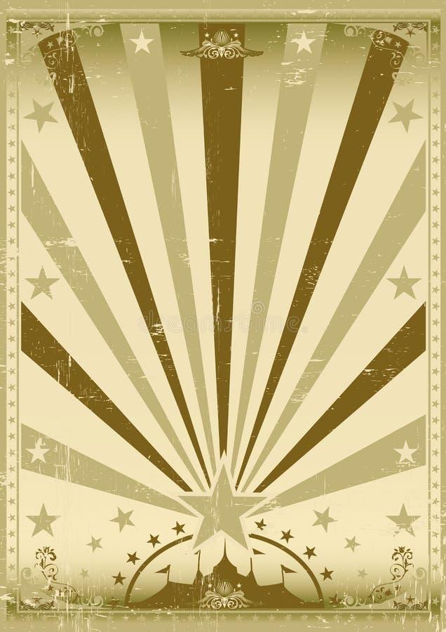 马戏葡萄酒褐色海报 皇族释放例证