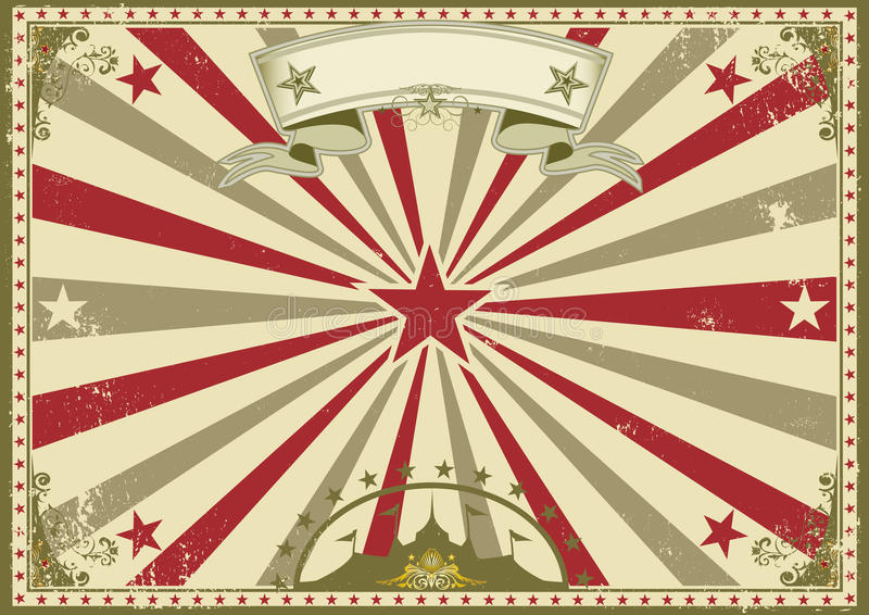 马戏葡萄酒水平的海报 皇族释放例证