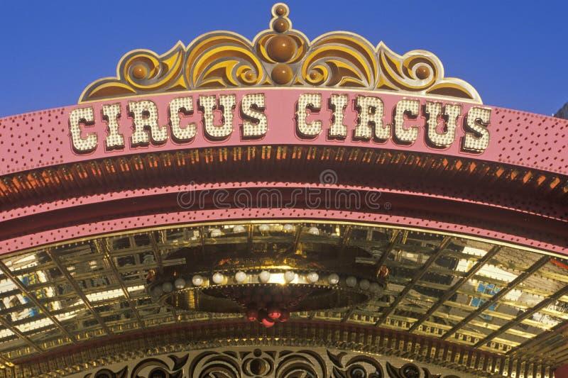 马戏马戏旅馆和赌博娱乐场,拉斯维加斯, NV 库存图片