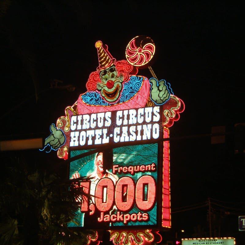 马戏马戏赌博娱乐场标志 免版税库存图片