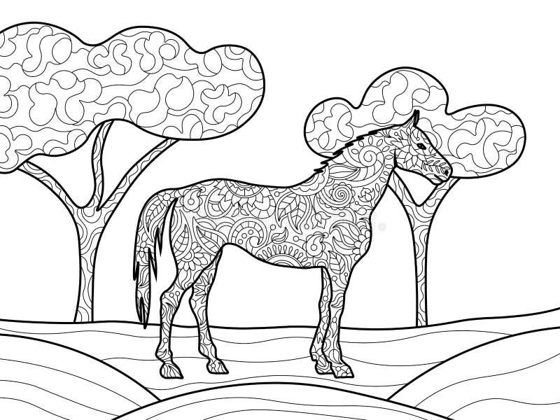 马成人传染媒介的彩图 向量例证