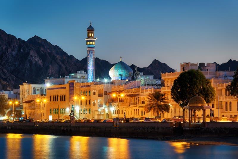 马托拉Corniche,马斯喀特,阿曼 免版税图库摄影