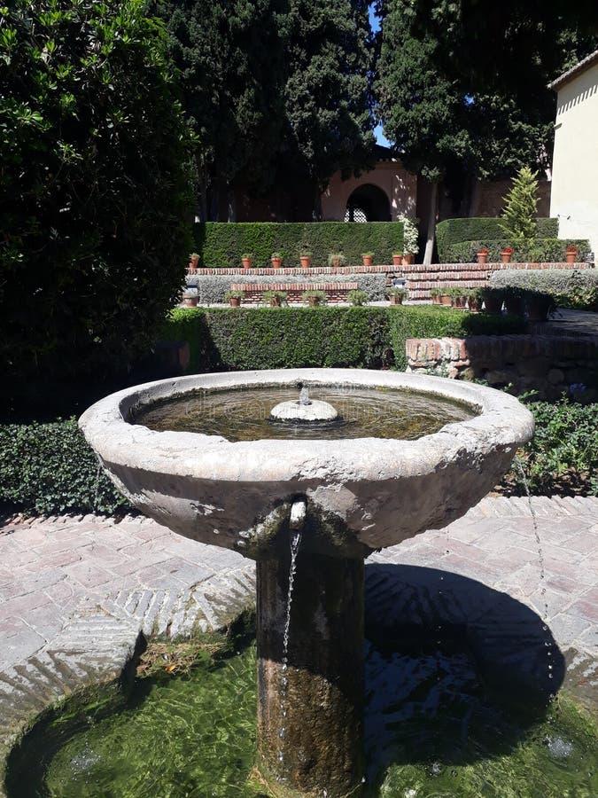 马拉加喷泉 免版税库存图片