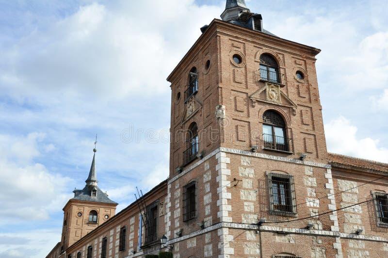 马拉加学院, Alcala de Henares,马德里(西班牙) 库存图片