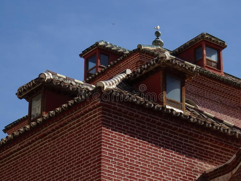 马拉加屋顶细节 西班牙 免版税库存图片