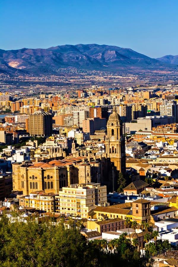 马拉加市,西班牙 库存图片