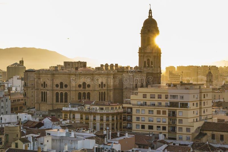 马拉加,西班牙大教堂 免版税库存照片