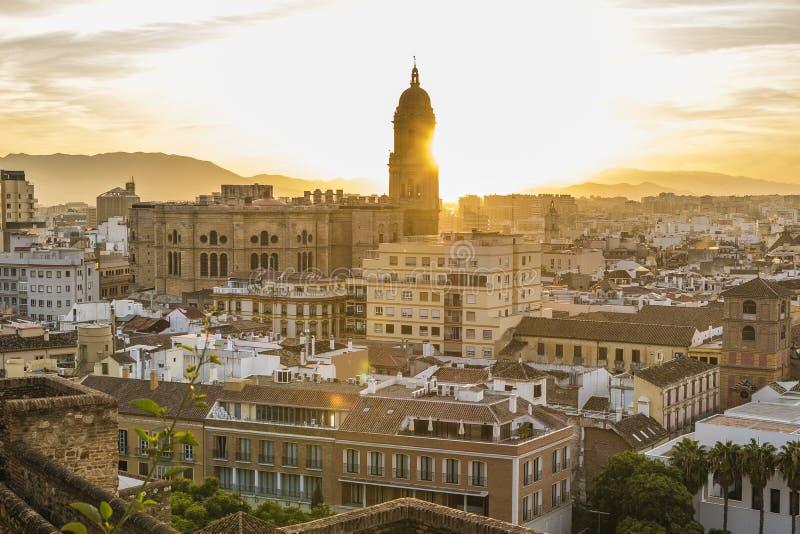 马拉加,西班牙大教堂 库存图片