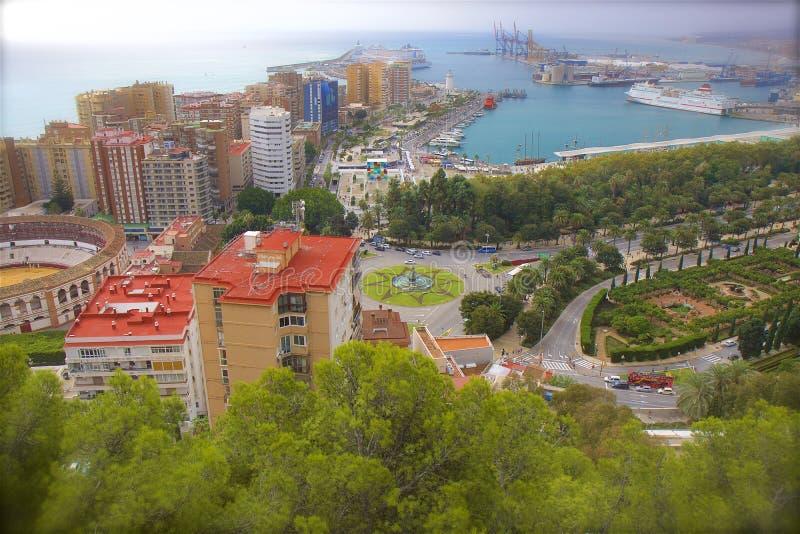 马拉加,西班牙街道  免版税库存图片