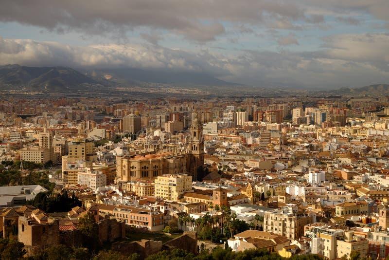 马拉加,西班牙风景  免版税图库摄影