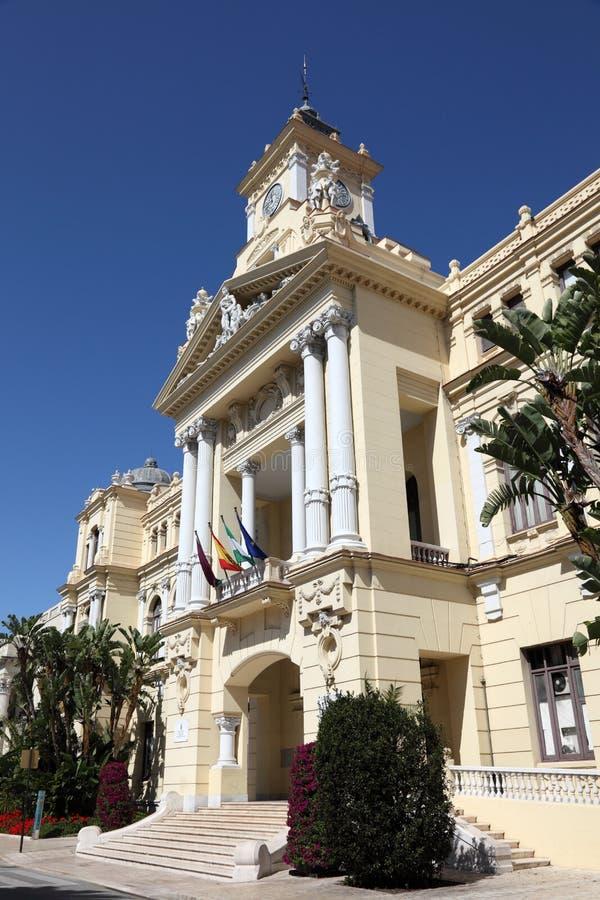 马拉加,西班牙香港大会堂  免版税库存照片