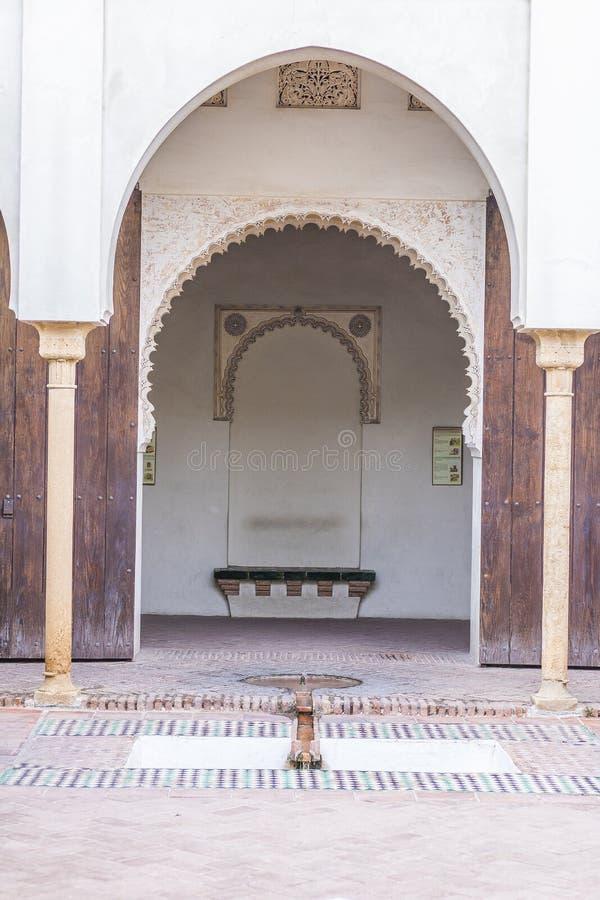 马拉加,西班牙Alcazaba 库存照片