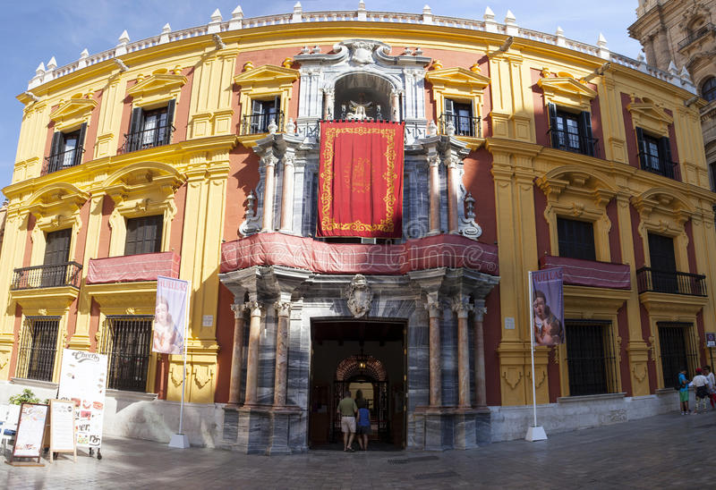 马拉加主教宫殿 库存照片