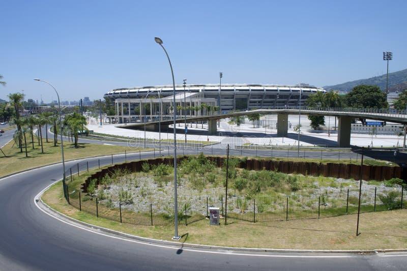马拉卡纳橄榄球足球场里约热内卢巴西 免版税库存照片