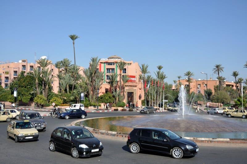 马拉喀什场面街道 免版税库存照片