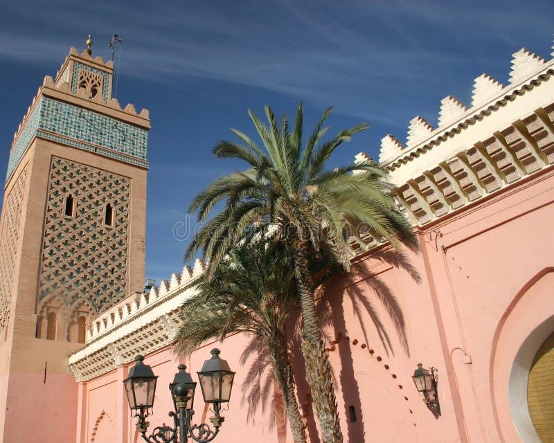 马拉喀什摩洛哥宫殿塔 库存照片
