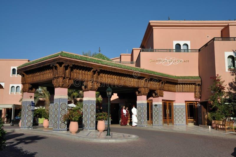 马拉喀什摩洛哥palmeraie手段 免版税库存图片