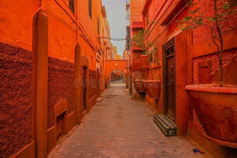 马拉喀什,摩洛哥红色麦地那  免版税图库摄影