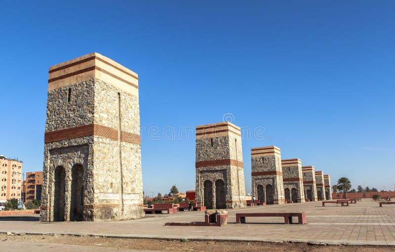 马拉喀什,摩洛哥正方形  库存照片