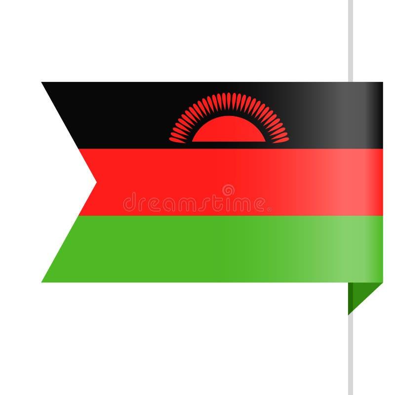 马拉维旗子传染媒介书签象 库存例证