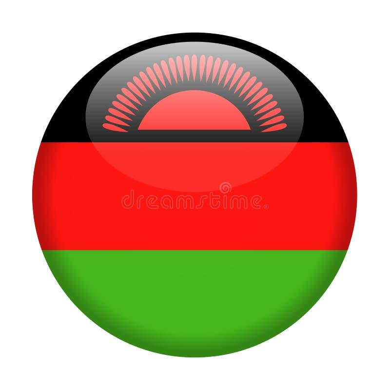 马拉维旗子传染媒介圆的象 库存例证