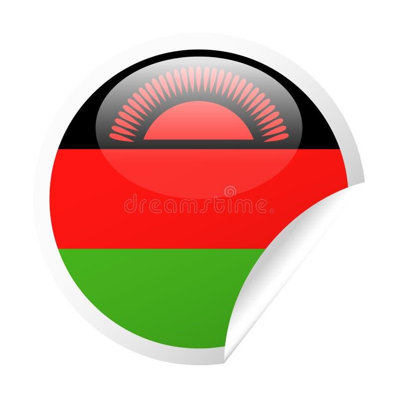 马拉维旗子传染媒介圆角落纸象 皇族释放例证