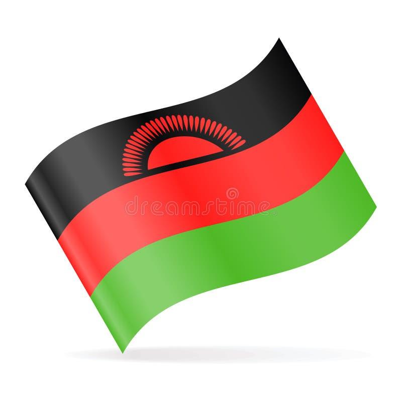 马拉维旗子传染媒介挥动的象 皇族释放例证