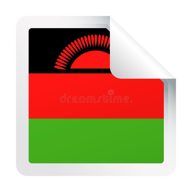 马拉维旗子传染媒介方角纸象 皇族释放例证