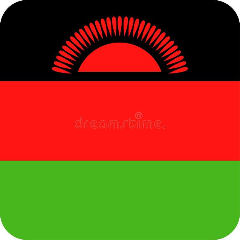 马拉维旗子传染媒介正方形平的象 皇族释放例证