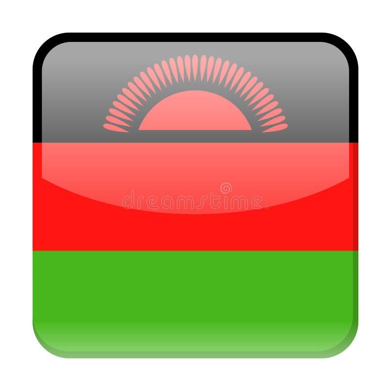 马拉维旗子传染媒介正方形象 皇族释放例证