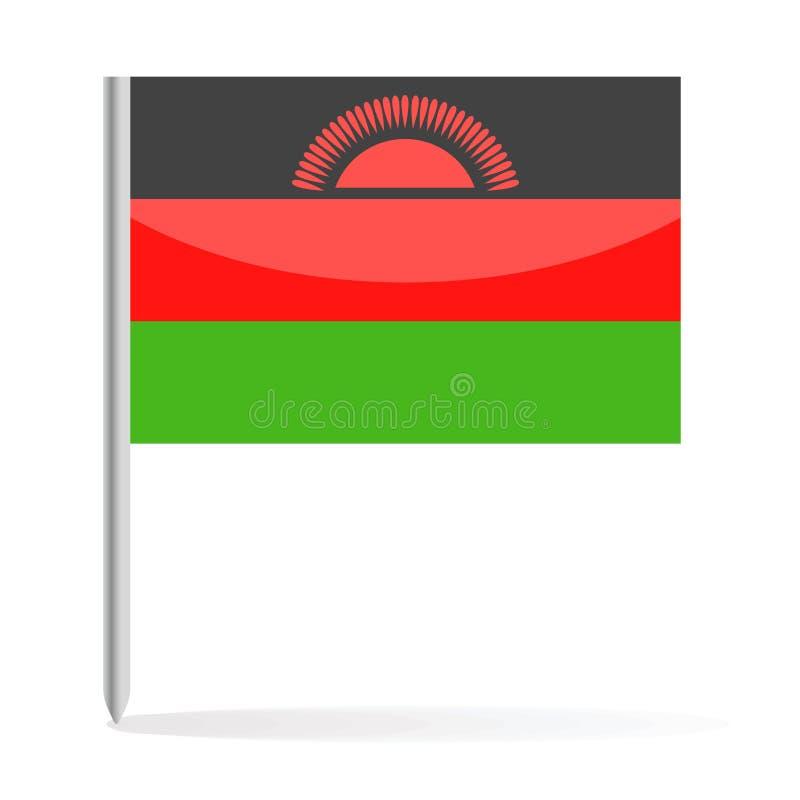 马拉维旗子Pin传染媒介象 皇族释放例证