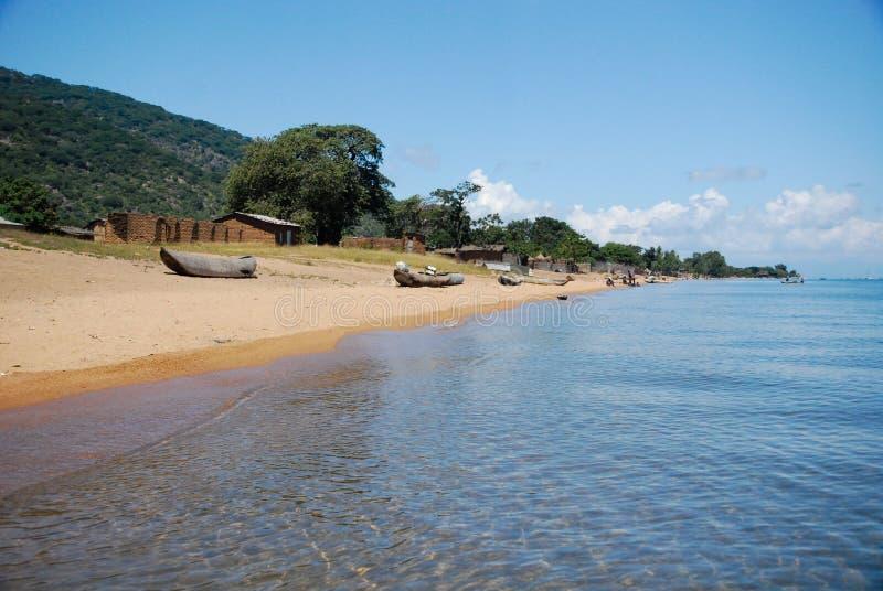 马拉维湖看法  库存照片