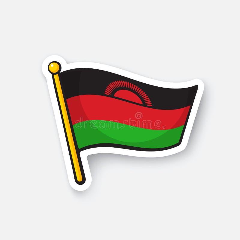 马拉维的贴纸国旗 向量例证