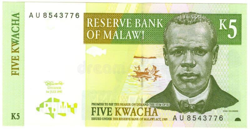 马拉维钞票 免版税库存照片