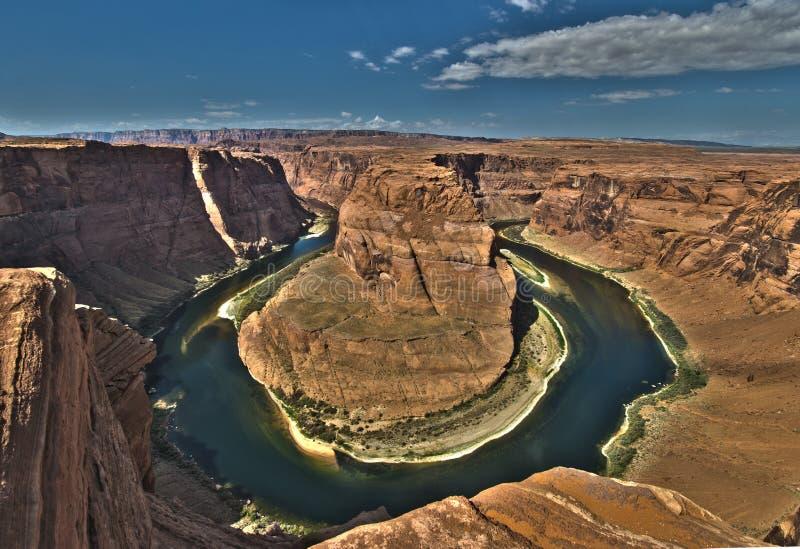 马掌弯大峡谷的科罗拉多河 免版税库存图片