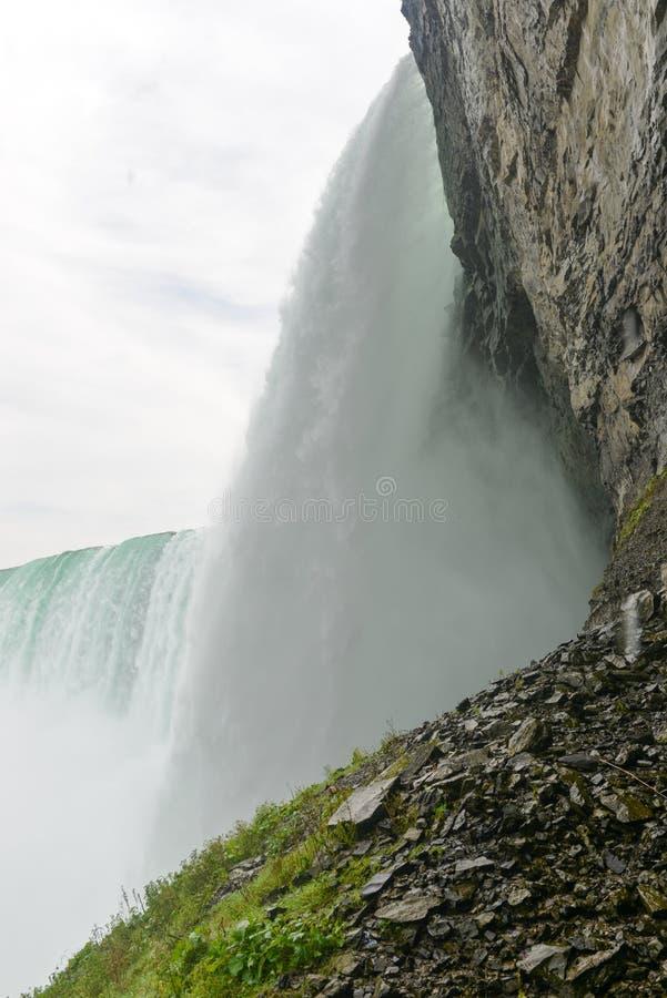 马掌秋天下面,尼亚加拉瀑布 库存照片