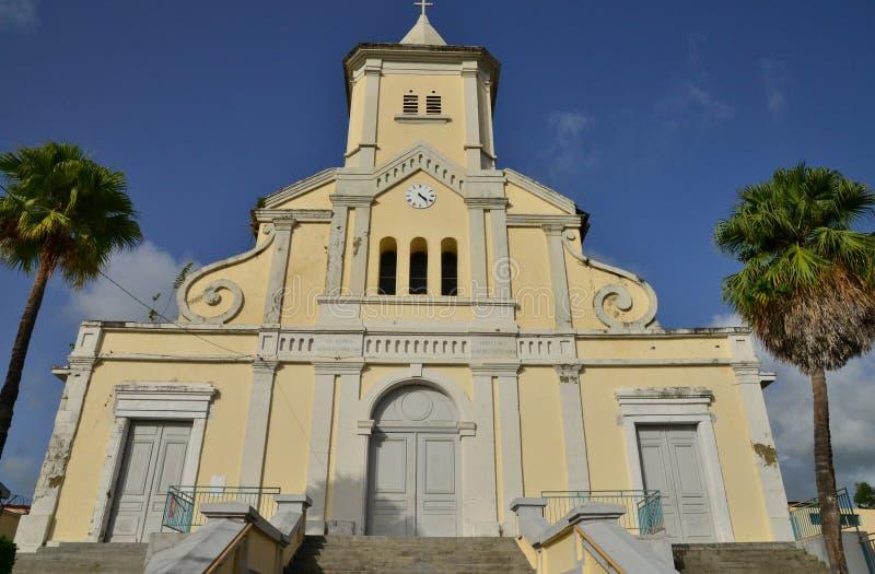 马提尼克岛,美丽如画的市Le印度西部的Saint Esprit 库存图片