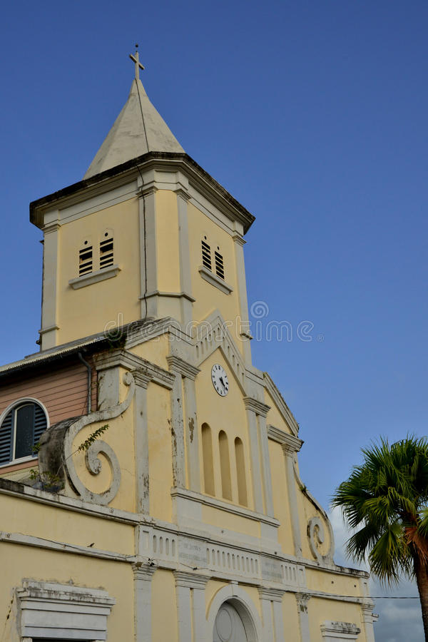 马提尼克岛,美丽如画的市Le印度西部的Saint Esprit 图库摄影