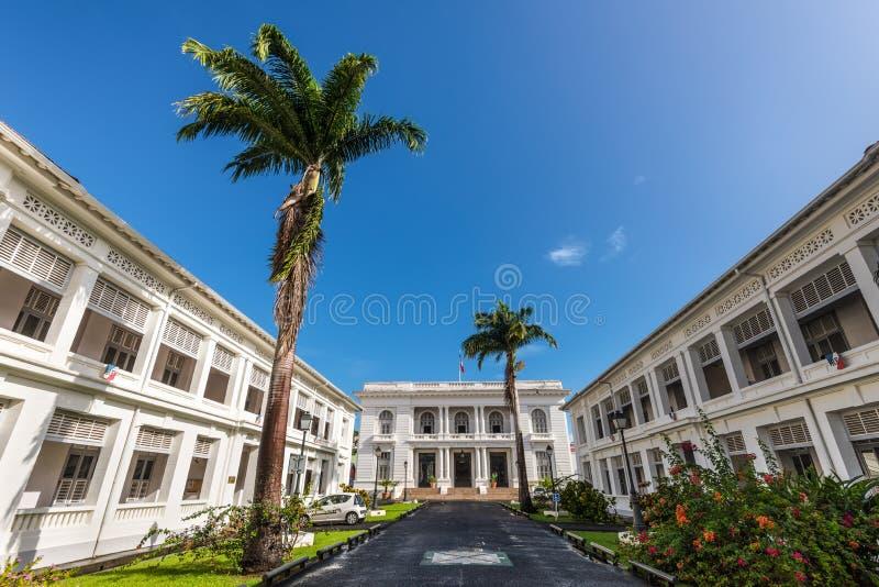 马提尼克岛-法兰西堡,马提尼克岛专区  免版税库存图片