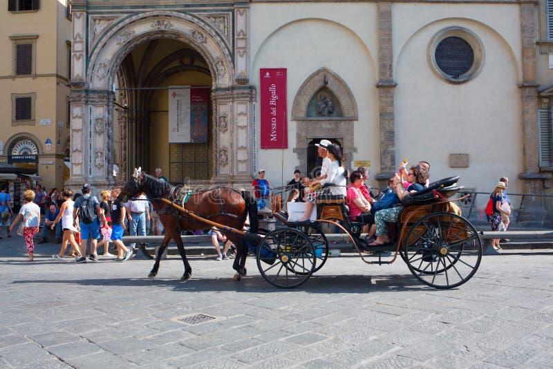 马支架在佛罗伦萨,意大利 图库摄影