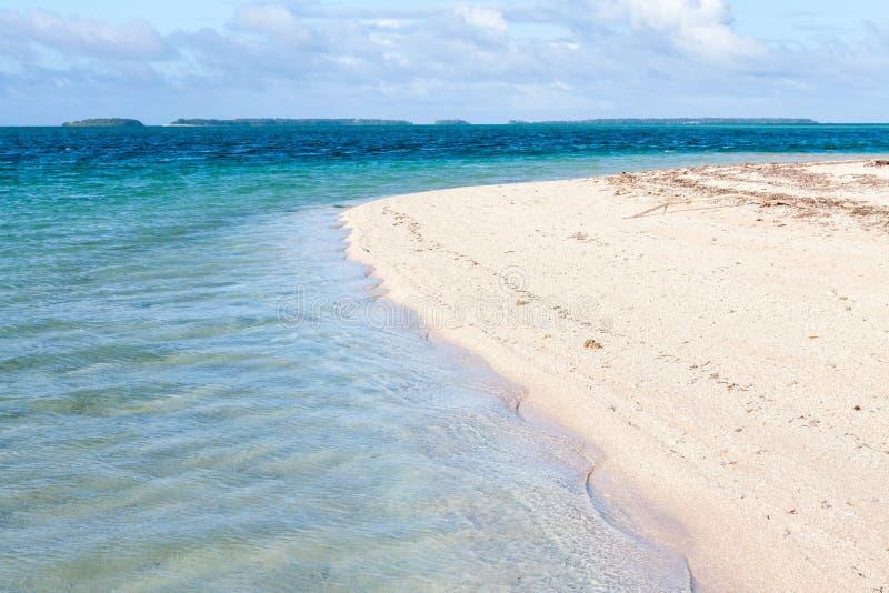 马朱罗环礁,马绍尔群岛,密克罗尼西亚,大洋洲 反射, 免版税图库摄影