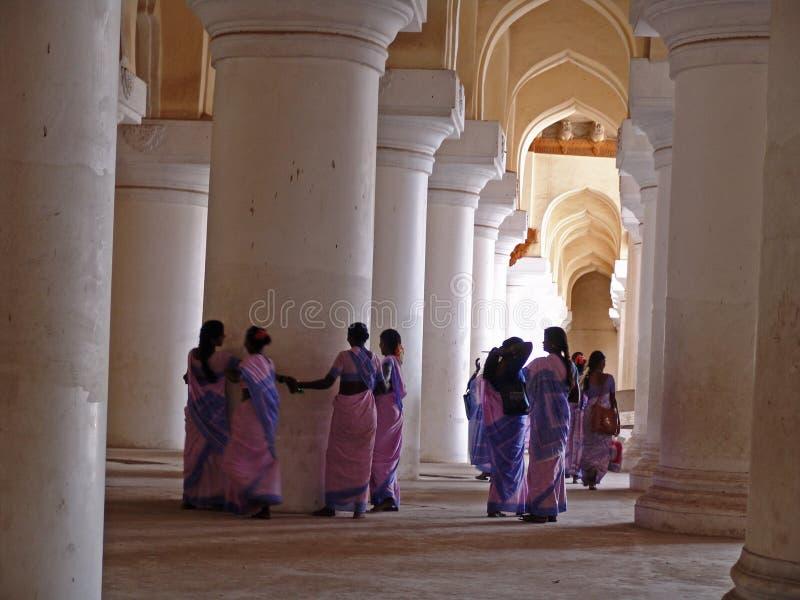 马杜赖nayak宫殿thirumalai 免版税库存图片