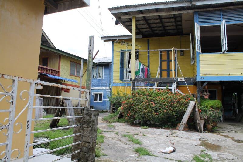 马来人Kampung房子 免版税库存照片