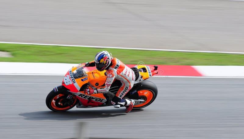 马来西亚人Moto GP 2013年- Dani Pedrosa 库存照片