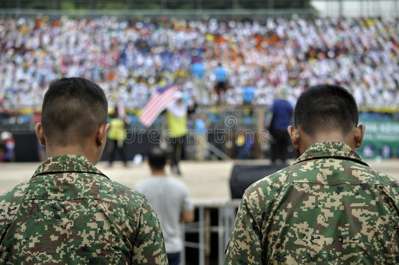 马来西亚军队国庆节庆祝2017年 免版税图库摄影