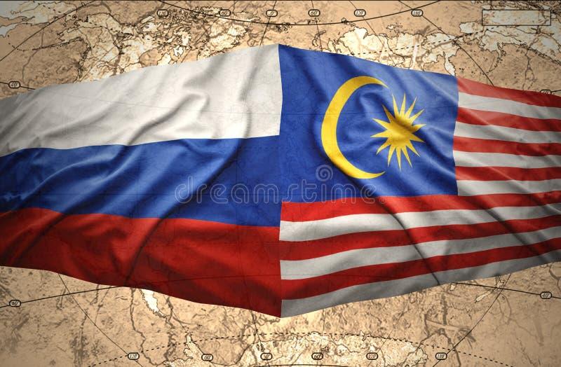 马来西亚和俄罗斯 库存例证