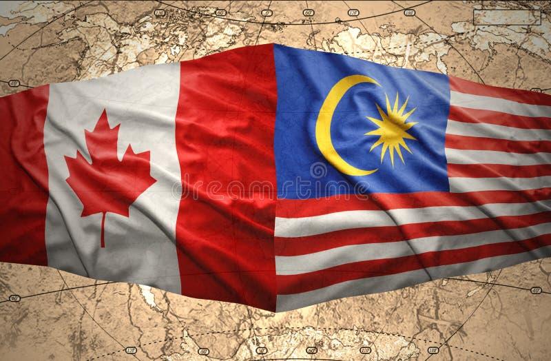 马来西亚和加拿大 向量例证