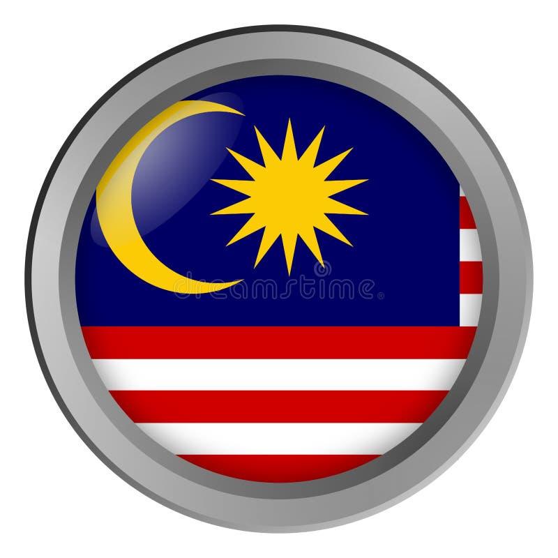 马来西亚回合旗子作为按钮 库存例证