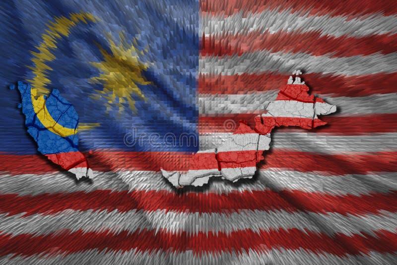 马来西亚地图 向量例证